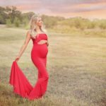 Rent this mermaid styl maternity gown