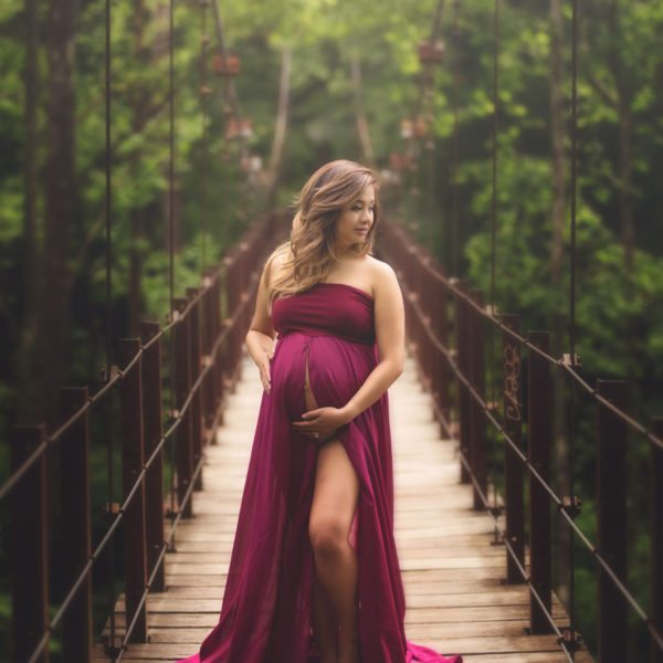 Open Front Maternity Gown