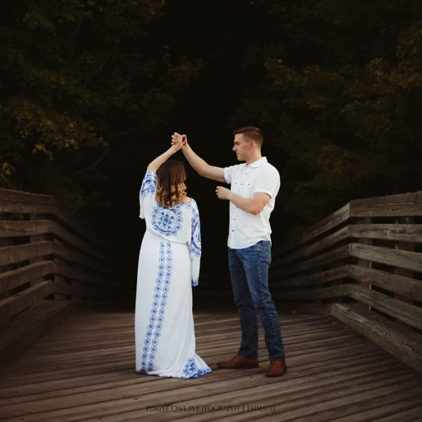 Rent this embroidered gown for your maternity photo shoot