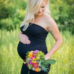 Rent this fitted, maternity gown for your photo shoot